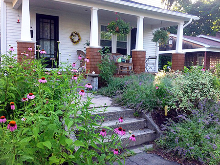 Hilltown tree and garden portfolio landscaping in small spaces with flowering perennials in front yard in northampton ma mightylinksfo