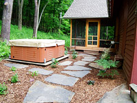 Shade Garden & Stone Path - Becket, MA