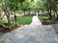 Goshen Stone and bluestone form the walkway.